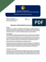 Procesos y Procedimientos en Una Empresa