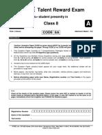 Ftre 2013 Class 8 Paper 1