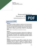 EL PAPEL de LA COMUNICACION en LA ISO 26000