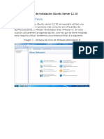 Reporte de Instalación Ubuntu Server 12