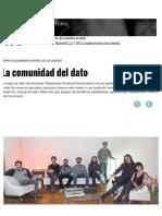 La Comunidad Del Dato _ Página12 _ La Otra Mirada