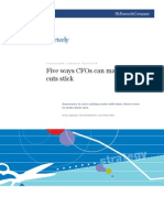 McKinsey_Five Ways CFOs Can Make Cost Cuts Stick