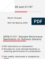 ASTMC595 and C1157RecentChanges