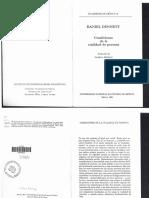 Dennett Daniel - Condiciones de La Cualidad de La Persona