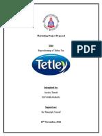 Praposal of Tetley Tea