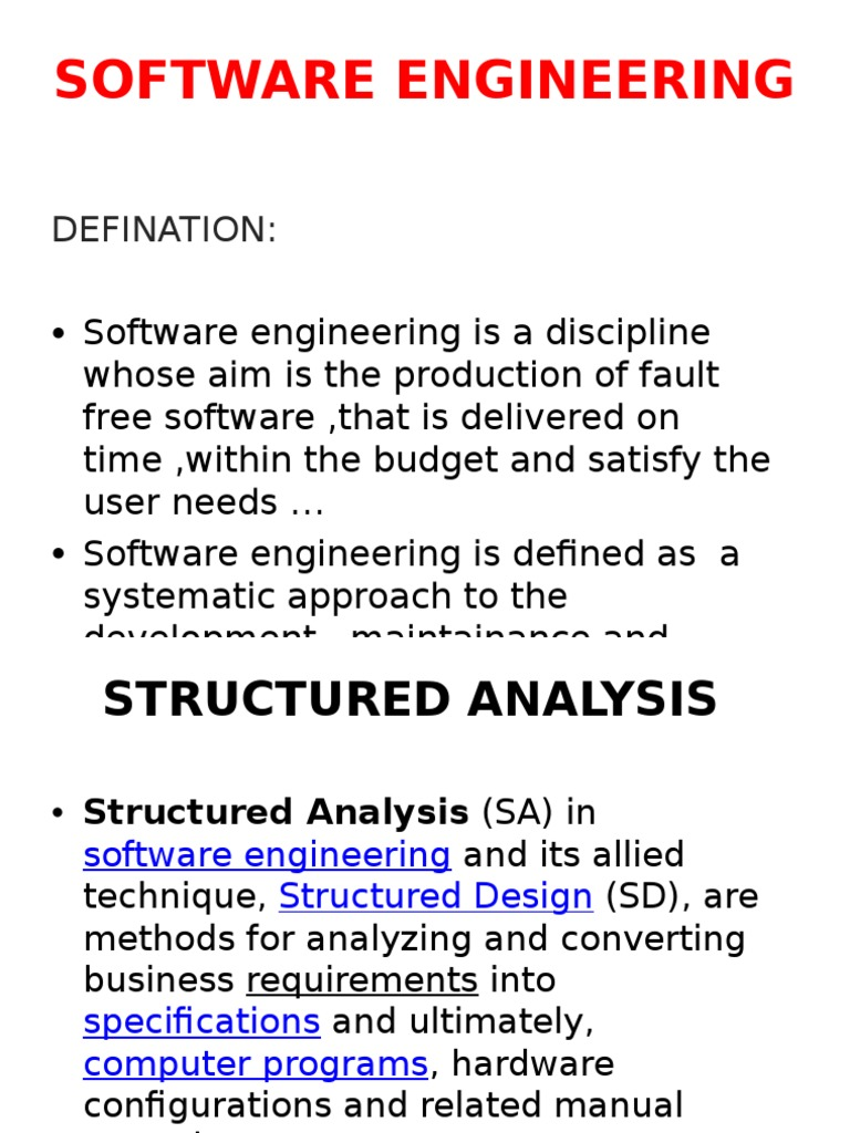 Software Engineering Pptx Software Engineering Computer Science