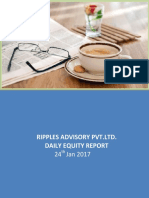 Ripples Advisory Pvt.Ltd. Daily Equity Report 24th Jan 2017