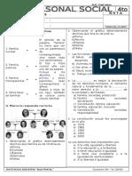 Examen 2da Unidad PS - I Trimestre 4to