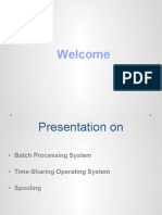 Batch Processing System, Time-Sharing and Spooling