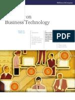 McKinsey on Business Technology
