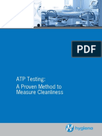 ATP Testing a Proven Method to Measure Cleanlines