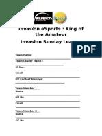 Form Invasion Sunday League