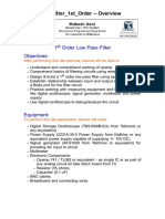 Low Pass Filter 1st Order
