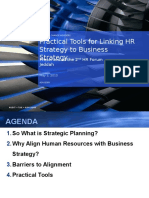 Linking Hr Strategy to Business Strategy