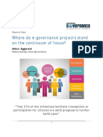 21% of E-Governance Initiatives Facilitate Transaction and Participation!