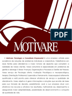 Apresentação Executiva - Motivare Psicologia e Consultoria Empresarial