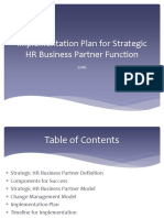 Implementation Plan for Strategic HRBP
