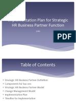Implementation Plan for Strategic HRBP
