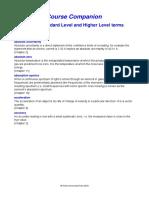 IB Glossary Core Terms