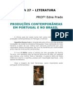 Literatura - Aula 27 - Produções Contemporâneas em Portugal e no Brasil