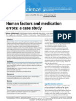 Human Factors and Medication Errors a Case Study