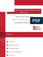 Predicting NBA Player Performance Based on Collegiate Offensive Systems