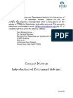 Concept Note for Introduction of Retirement Adviser