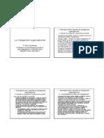 Changement Organisationnel M1 A