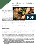 Super Absorbent Polymer for Agriculture Farming Horticulture- ALSTA HYDROGEL