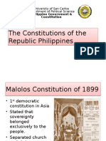 The Constitutions of the Republic Philippines