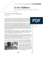 2013 Jeremy Krauss Approach for Special Needs Children Based on the Feldenkrais Method