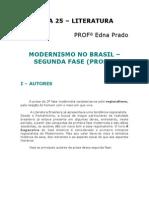 Literatura - Aula 25 - Modernismo no Brasil - 2ª fase (prosa)