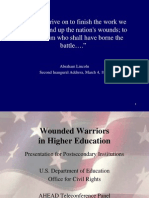 Wounded Warriors in Higher Education