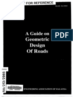 A Guide on Geometric Design of Road