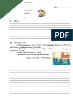 Test Sumativ 2 u.i.cartea o Comoara