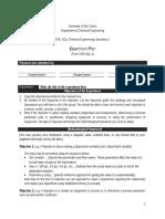Annex 2.1 Form CHE422L-1 (Experiment Plan)