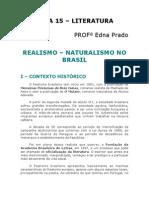 Literatura - Aula 15 - Realismo-Naturalismo no Brasil