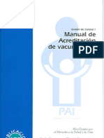 Manual de Acreditación de vacunatorios