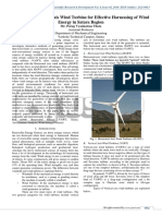 A Study on Vertical Axis Wind Turbine for Effective Harnessing of Wind Energy in Satara Region