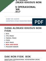 Petunjuk Teknis Bok 2017 Paparan Sesditjen