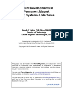 Recent Developments in Permanent Magnet Gear Systems & Machines