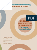 Manual para la creación de  Museos Comunitarios