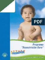 """Programa """"Desnutrición Cero"""""""