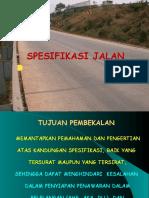 Spesifikasi Jalan