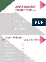 Zona Urbana y Zona Rural
