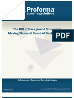 Background Screening ROI White Paper