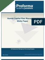 Background Screening White Paper HCRM