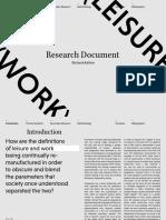 Work & Leisure. Richard Ashton. Research Portfolio