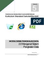 Modul Dunia Pengkalanan Data Tahun 5 Bhg 2