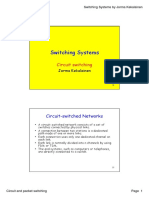 Switching Systems - Circuit and Packet Switching